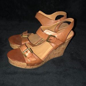 Brown-Tan Wedge Size 11